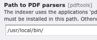 Indexed Search Parser Pfad