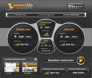 internetgeschwindigkeit testen